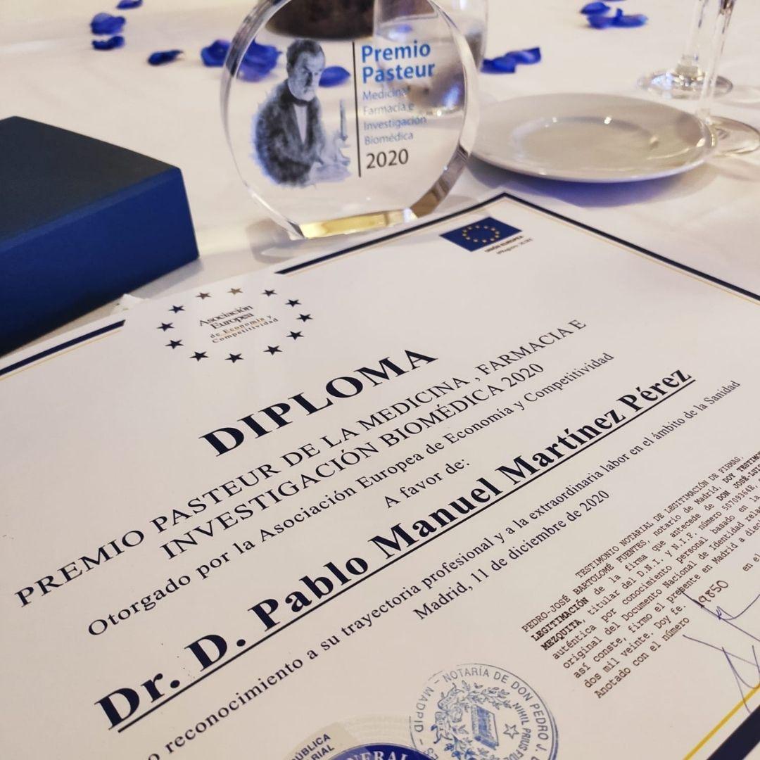 Premio Pasteur de la Medicina, Farmacia e Investigación Biomédica - Dr. Pablo Martínez | KLINIK PM
