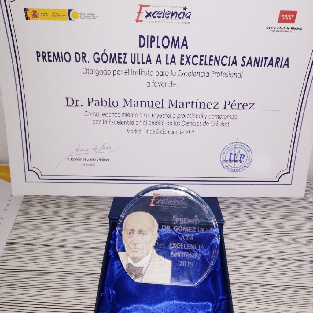 Premio Dr. Gómez Ulla a la Excelencia Sanitaria - Alicante - Dr. Pablo Martínez | KLINIK PM